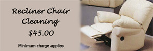 Recliner Chair Upholstery Cleaning Coupon, $45